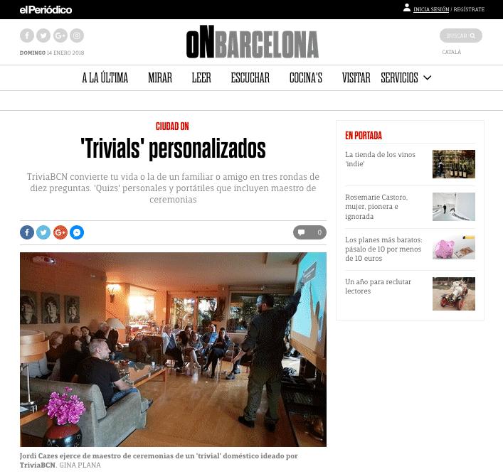 TriviaBCN a El Periodico