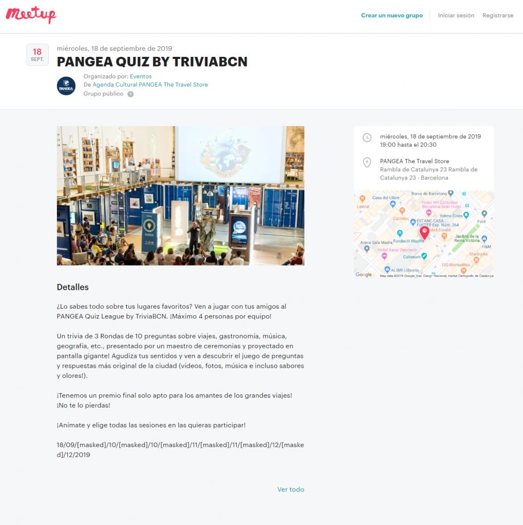 Pangea - Meetup