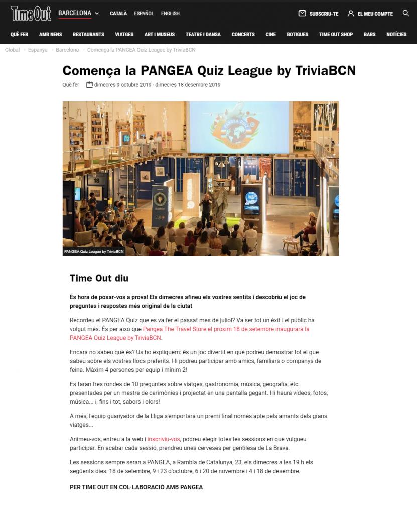 Pangea - TimeOut
