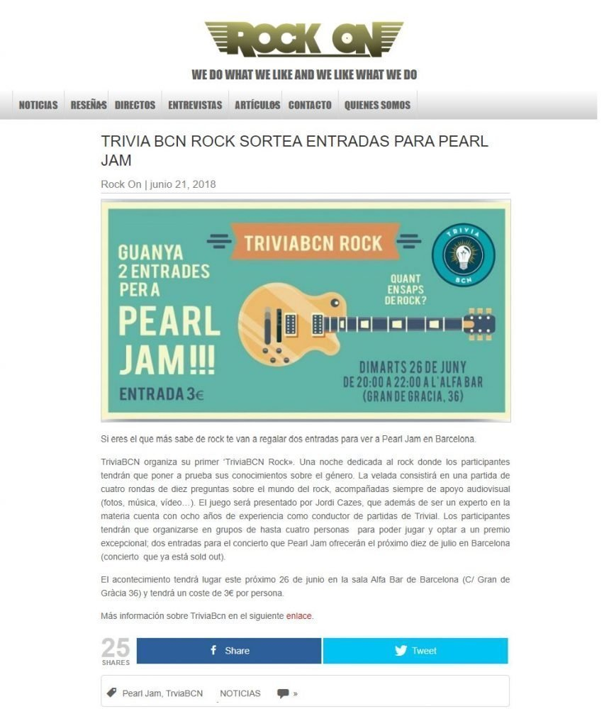 Pearl Jam - RockOn