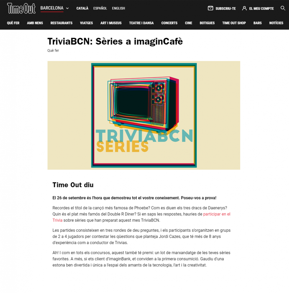 TriviaBCN Especial Series - TimeOut